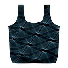 Desktop Pattern Vector Design Full Print Recycle Bags (l)