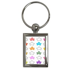 Stars Set Up Element Disjunct Image Key Chains (rectangle)