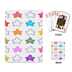 Stars Set Up Element Disjunct Image Playing Card