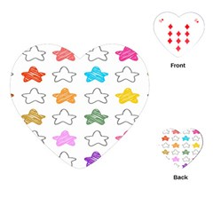 Stars Set Up Element Disjunct Image Playing Cards (heart)