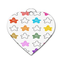 Stars Set Up Element Disjunct Image Dog Tag Heart (two Sides)
