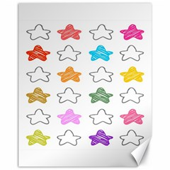 Stars Set Up Element Disjunct Image Canvas 11  X 14