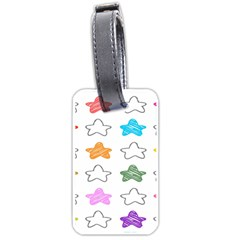 Stars Set Up Element Disjunct Image Luggage Tags (one Side)