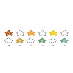Stars Set Up Element Disjunct Image Satin Scarf (oblong)