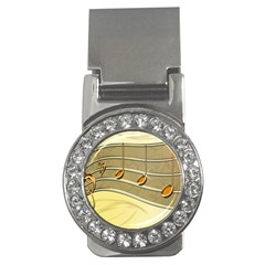 Music Staves Clef Background Image Money Clips (cz)