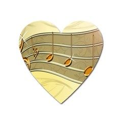 Music Staves Clef Background Image Heart Magnet