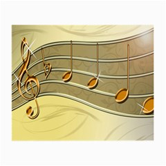 Music Staves Clef Background Image Small Glasses Cloth