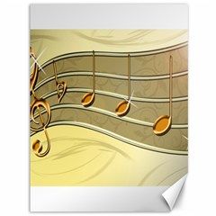 Music Staves Clef Background Image Canvas 36  X 48