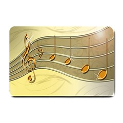 Music Staves Clef Background Image Small Doormat