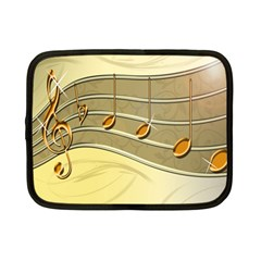 Music Staves Clef Background Image Netbook Case (small)