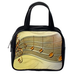 Music Staves Clef Background Image Classic Handbags (one Side)