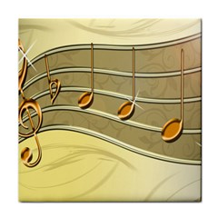 Music Staves Clef Background Image Face Towel