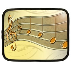 Music Staves Clef Background Image Netbook Case (xl)