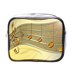 Music Staves Clef Background Image Mini Toiletries Bags