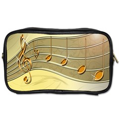 Music Staves Clef Background Image Toiletries Bags