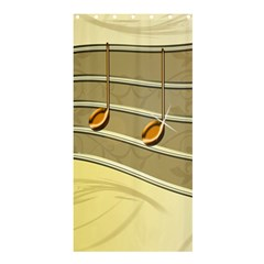 Music Staves Clef Background Image Shower Curtain 36  X 72  (stall)
