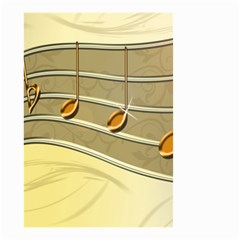 Music Staves Clef Background Image Small Garden Flag (two Sides)