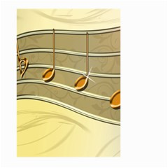 Music Staves Clef Background Image Large Garden Flag (two Sides)