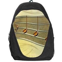Music Staves Clef Background Image Backpack Bag