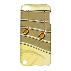 Music Staves Clef Background Image Apple Ipod Touch 5 Hardshell Case