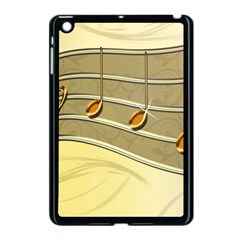 Music Staves Clef Background Image Apple Ipad Mini Case (black)