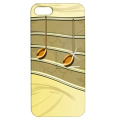 Music Staves Clef Background Image Apple Iphone 5 Hardshell Case With Stand