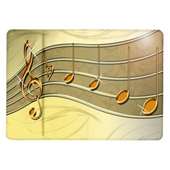 Music Staves Clef Background Image Samsung Galaxy Tab 10 1  P7500 Flip Case