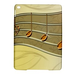 Music Staves Clef Background Image Ipad Air 2 Hardshell Cases