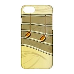 Music Staves Clef Background Image Apple Iphone 8 Hardshell Case