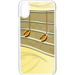 Music Staves Clef Background Image Apple Iphone X Seamless Case (white)