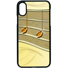 Music Staves Clef Background Image Apple Iphone X Seamless Case (black)