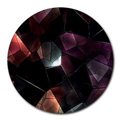 Crystals Background Design Luxury Round Mousepads