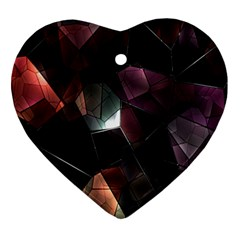 Crystals Background Design Luxury Ornament (heart)