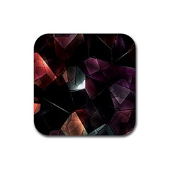 Crystals Background Design Luxury Rubber Square Coaster (4 Pack)