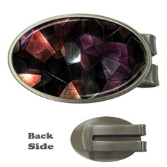 Crystals Background Design Luxury Money Clips (oval)