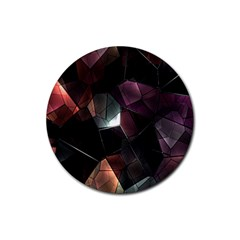 Crystals Background Design Luxury Rubber Round Coaster (4 Pack)