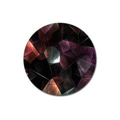 Crystals Background Design Luxury Magnet 3  (round)