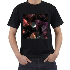 Crystals Background Design Luxury Men s T Shirt (black) (two Sided)