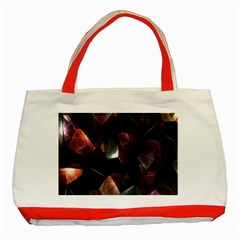 Crystals Background Design Luxury Classic Tote Bag (red)