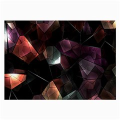 Crystals Background Design Luxury Large Glasses Cloth (2 Side)