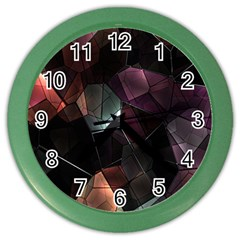 Crystals Background Design Luxury Color Wall Clocks