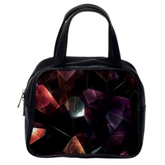 Crystals Background Design Luxury Classic Handbags (one Side)