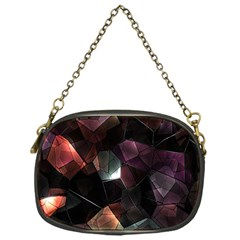 Crystals Background Design Luxury Chain Purses (one Side)