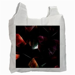 Crystals Background Design Luxury Recycle Bag (one Side)