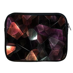 Crystals Background Design Luxury Apple Ipad 2/3/4 Zipper Cases