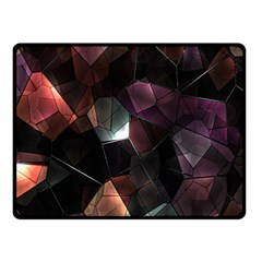 Crystals Background Design Luxury Double Sided Fleece Blanket (small)