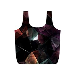 Crystals Background Design Luxury Full Print Recycle Bags (s)