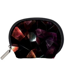 Crystals Background Design Luxury Accessory Pouches (small)