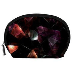 Crystals Background Design Luxury Accessory Pouches (large)