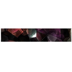 Crystals Background Design Luxury Large Flano Scarf